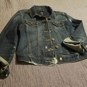Gap distressed denim jacket
